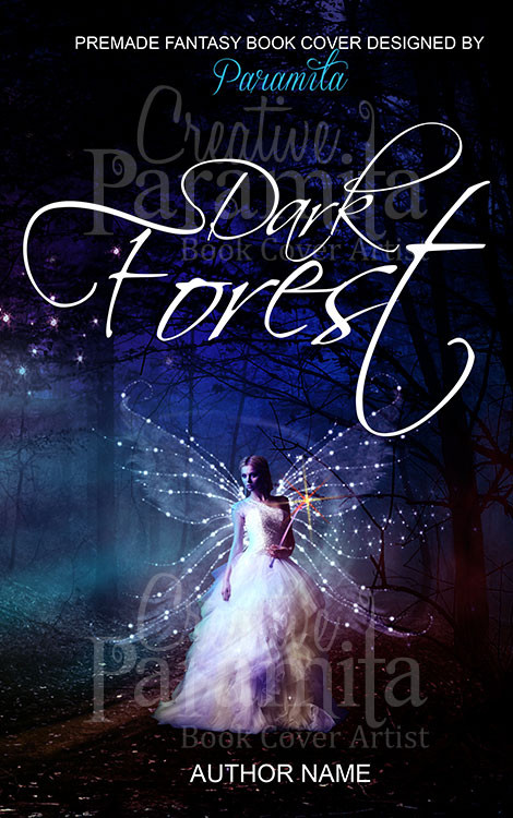 Premade Book Cover Fantasy : Dark forest premade book cover