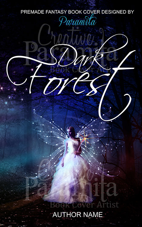 Book Cover Fantasy Zodiac : Dark forest premade book cover