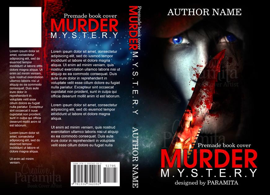Mystery Book Cover Design : Murder mystery premade book cover