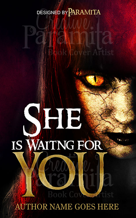Horror Book Cover Ideas : She is waiting for you premade book cover