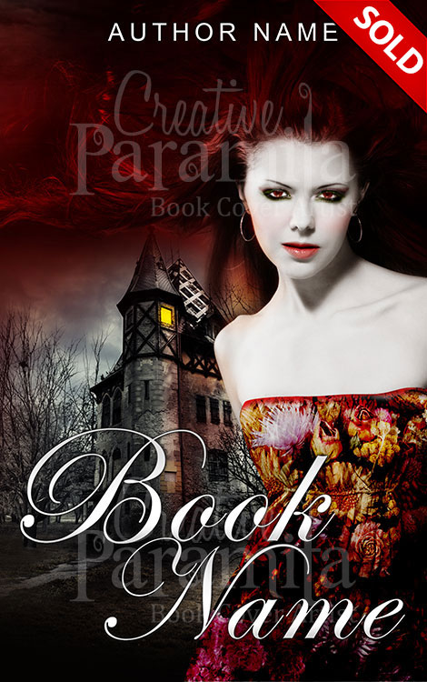 Book Cover White Girl ~ Vampire girl premade book cover