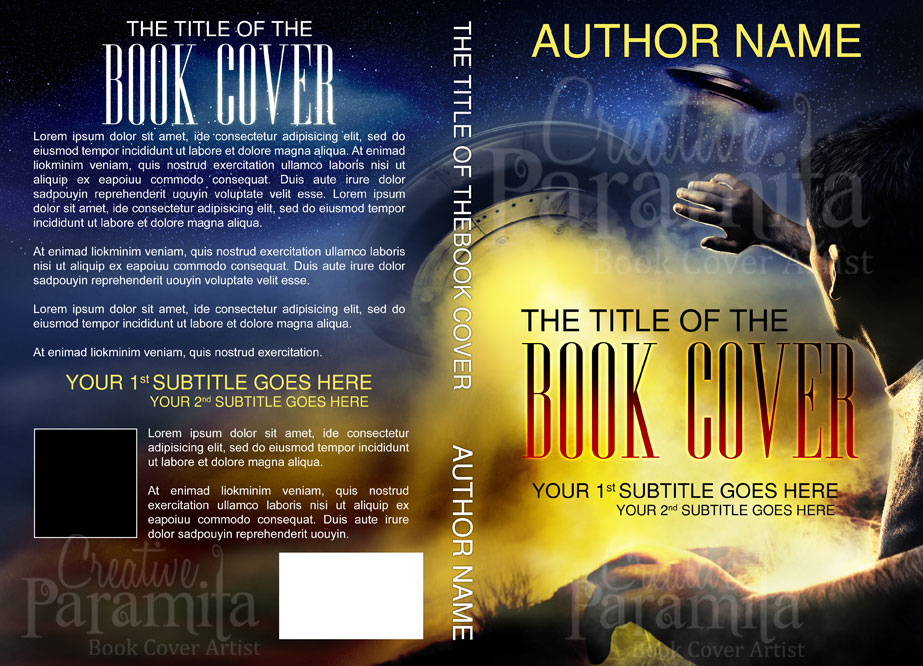 Illustrated Premade Book Covers : Premade science fiction book cover for sale