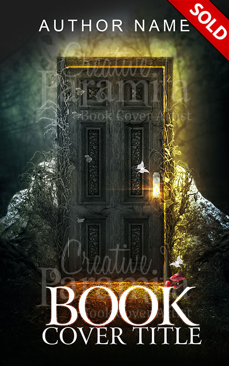 Book Cover Fantasy Zip ~ Fantasy behind the door premade book cover