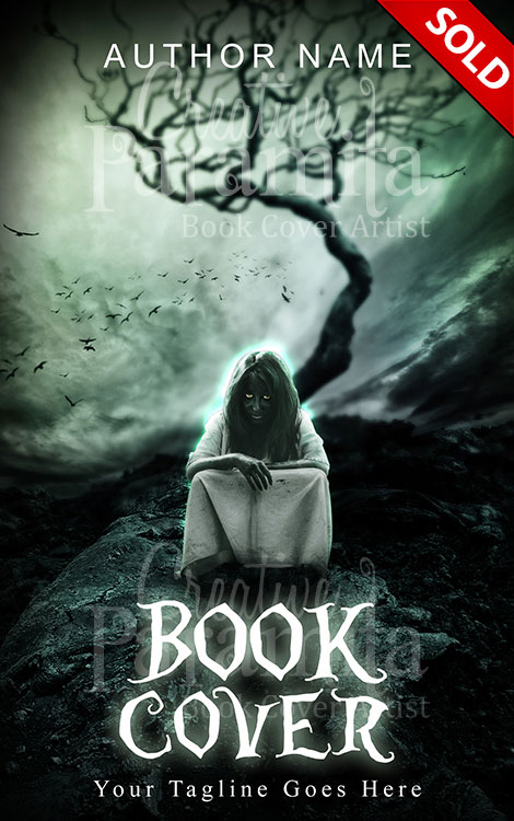 Book Cover Design Horror ~ Ghost girl premade book cover