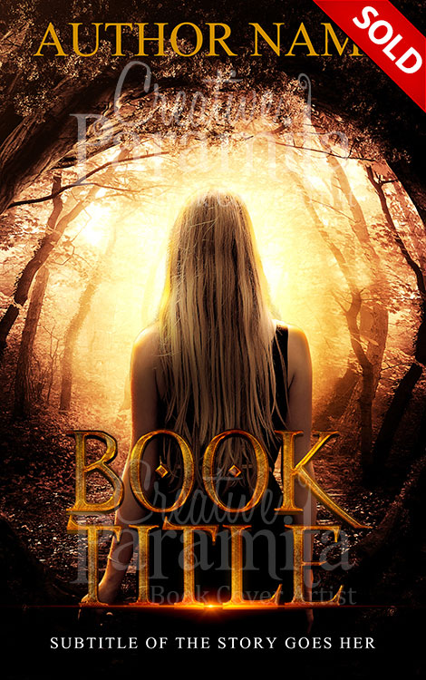 Premade Book Cover Fantasy : Girl in the woods premade book cover