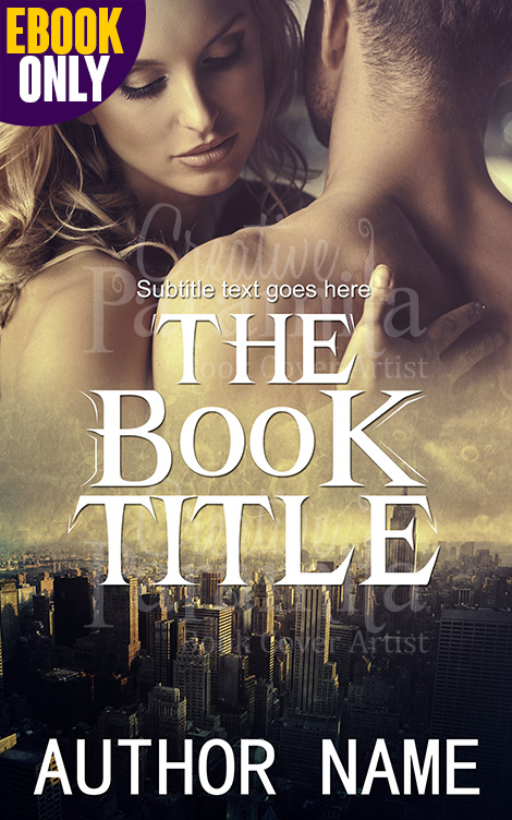 Romance Book Cover Illustration : Romance in city premade book cover