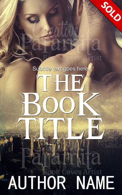 Romance Book Cover Fonts : Romance in city premade book cover
