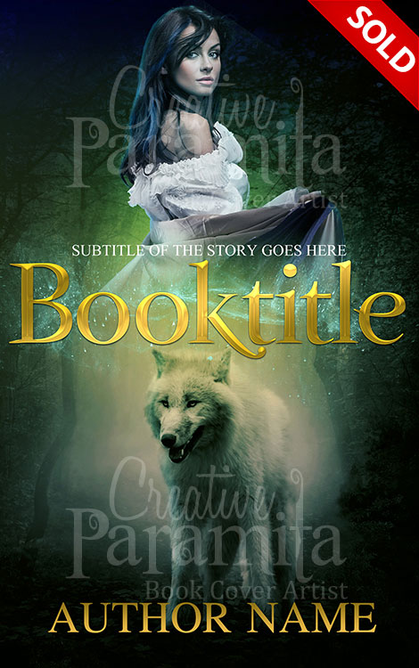 Fantasy Book Cover Typography : Wolf woman premade book cover