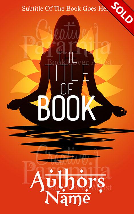Pretty Book Cover Yoga : Yoga premade book cover