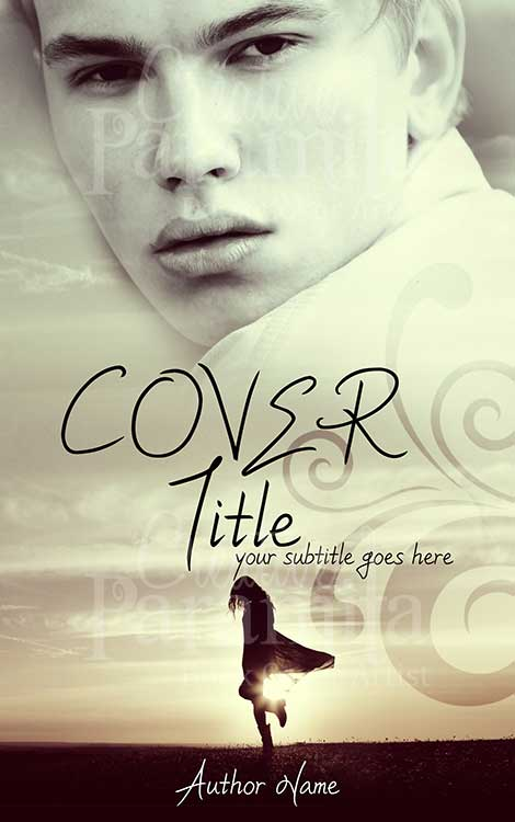 Romance novel cover design