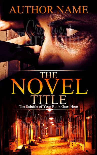 thriller pre made book cover