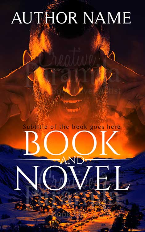 horror action premade book cover