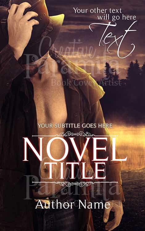 cowboy premade book cover