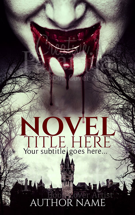 premade horror cover design