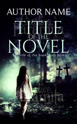 premade book cover horror