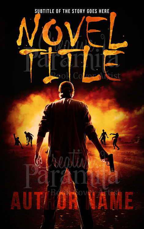 zombie premade book cover