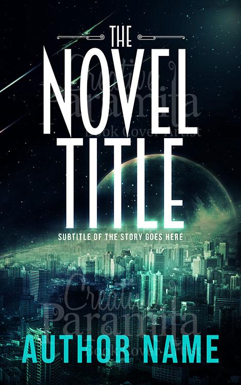 sci fi premade book cover