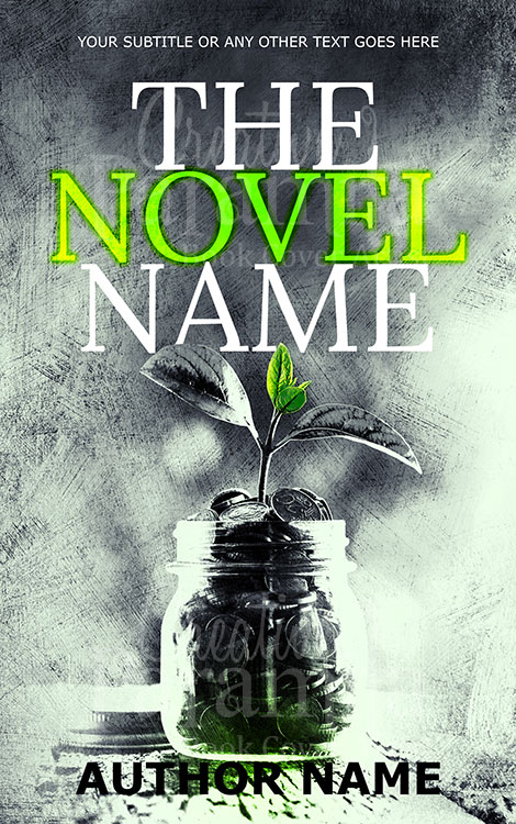money premade book cover