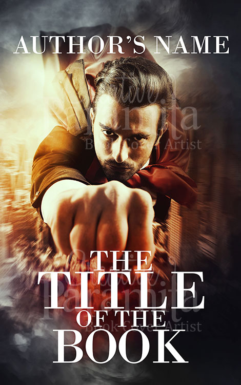 super hero premade book cover