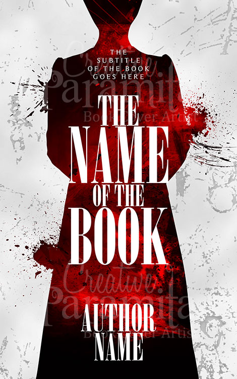 crime suspense premade book cover