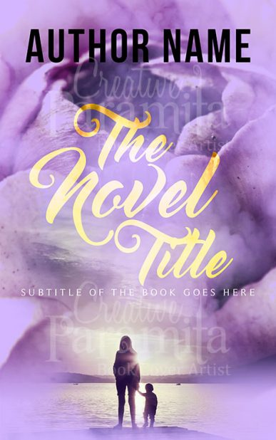 purple premade book cover