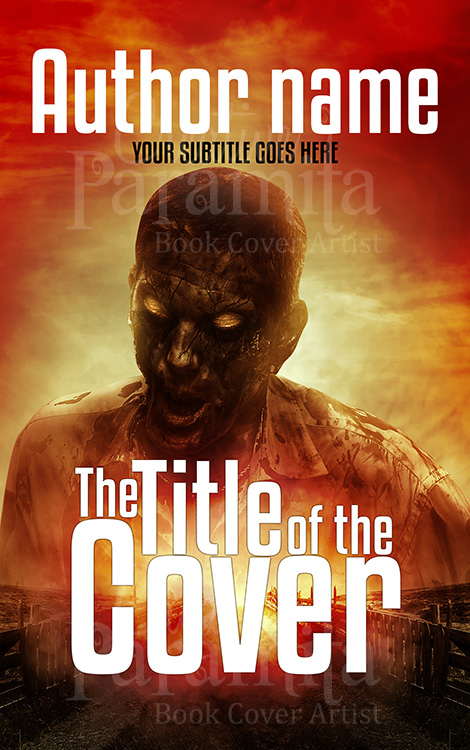horror zombie book cover design