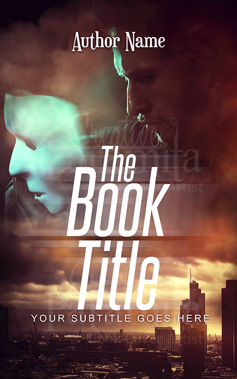 mask premade book cover design