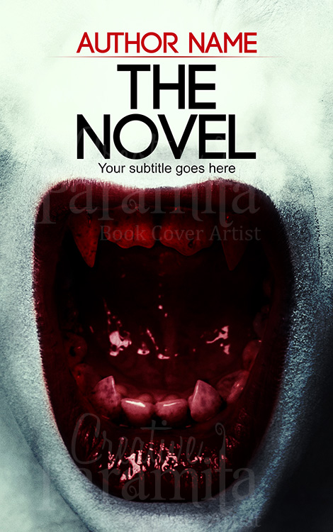 Book Cover Design Horror ~ Red teeth premade book cover