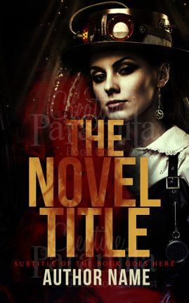 steampunk book cover design