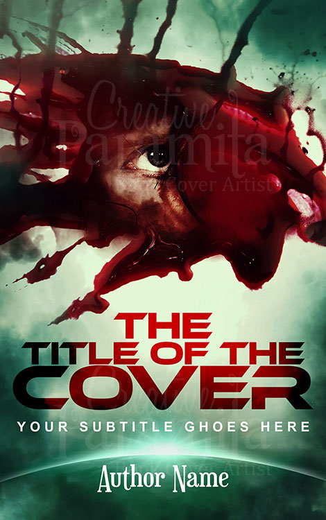 creepy eye premade cover