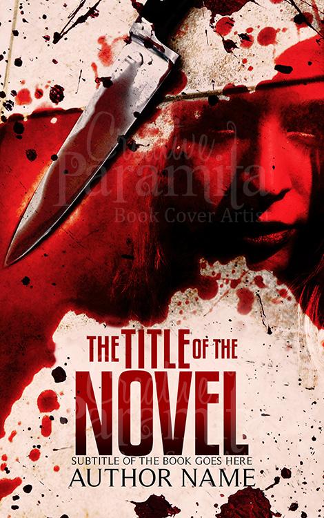 blood murder book cover design