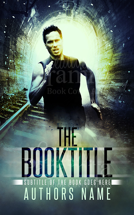 Action thriller book cover design