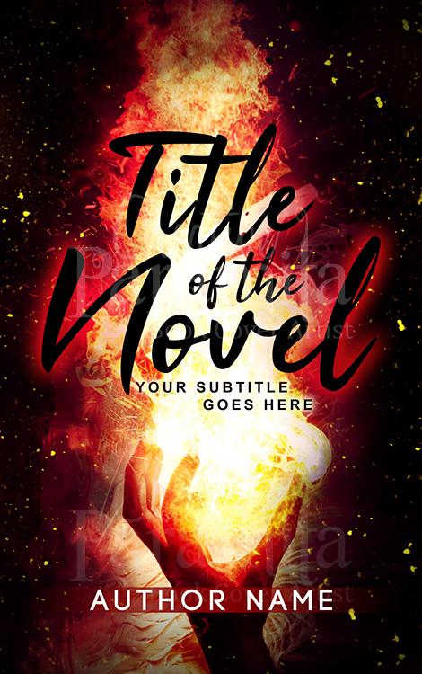 fire premade book cover design