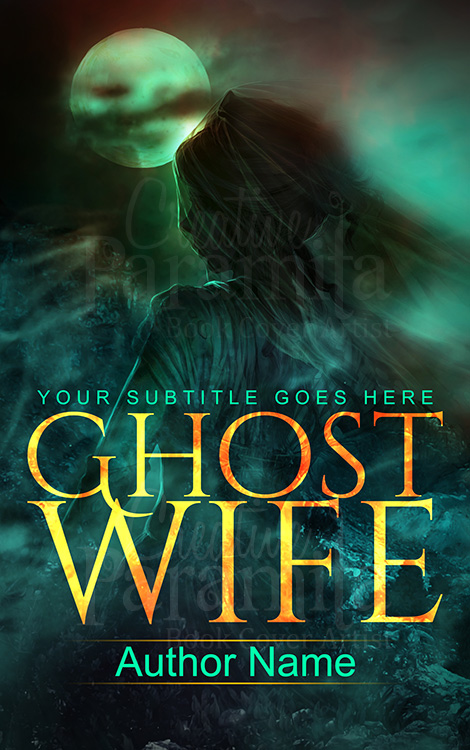 ghost premade book cover