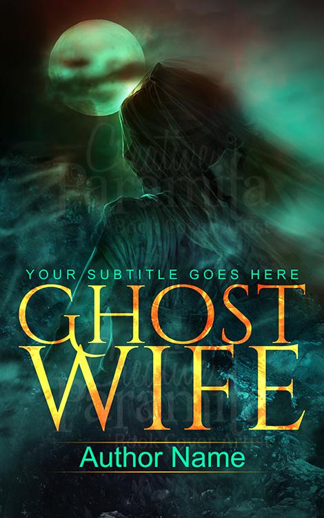 ghost premade book cover