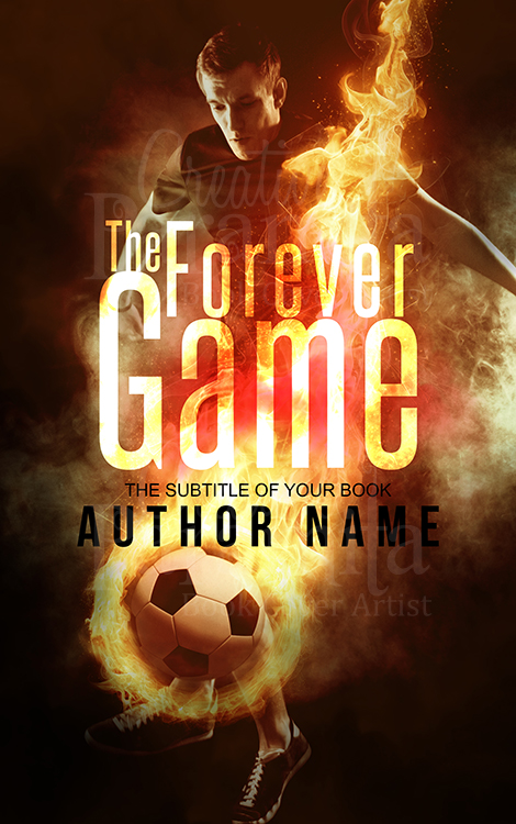soccer games premade book cover