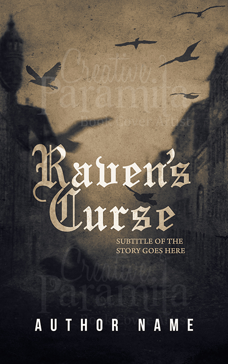 Raven premade book cover design