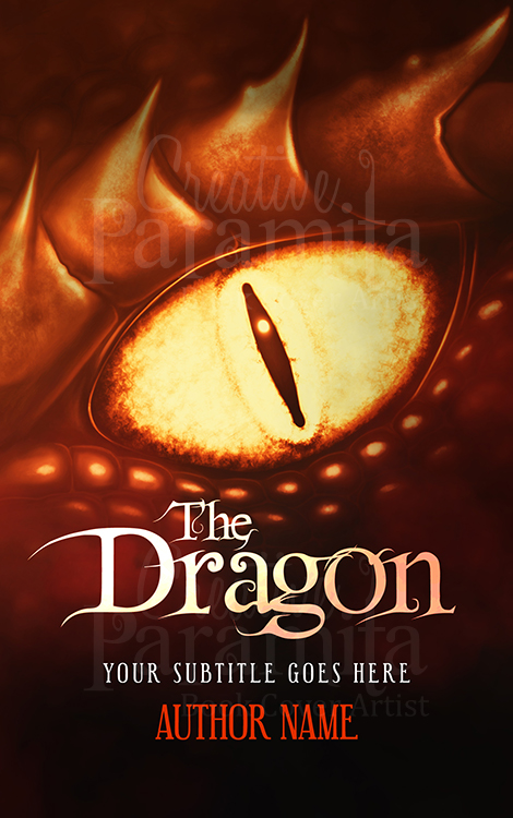 dragon premade book cover
