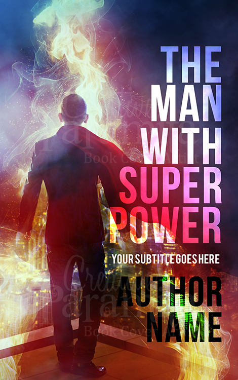 super hero premade cover