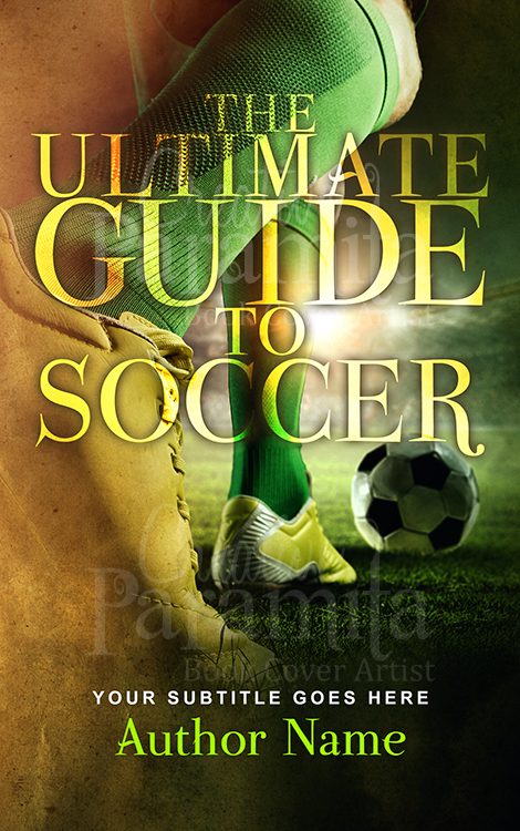 soccer non fiction premade book cover design