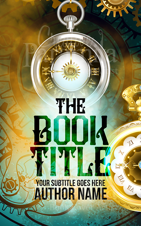 steampunk premade book cover