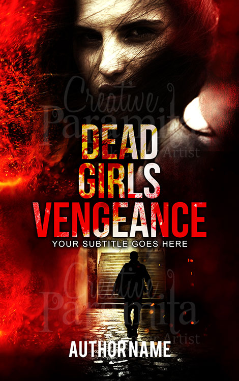 horror thriller premade book cover