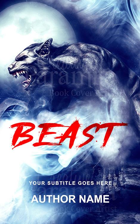 werewolf premade book cover design