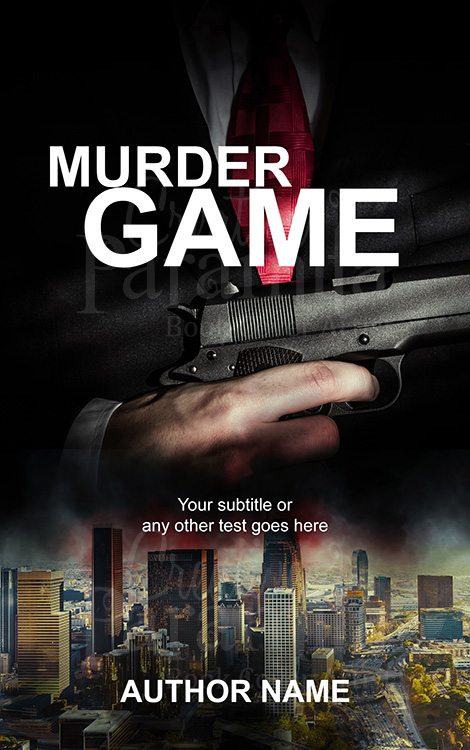 crime premade book cover design