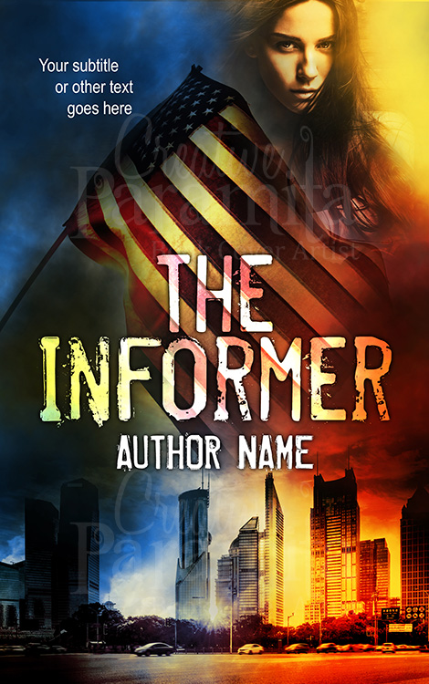 political thriller book cover design
