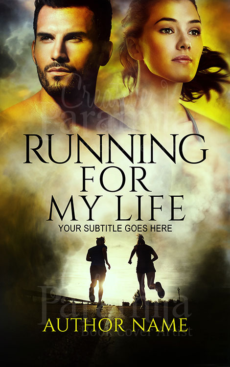 run premade book cover