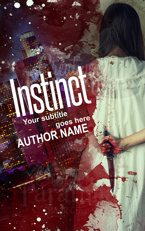 holding knife eBook cover design