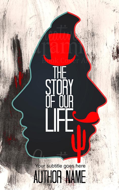 Romance drama book cover design
