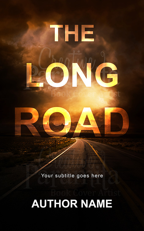 Road premade book cover design