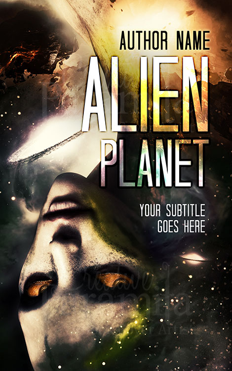 scifi alien book cover design
